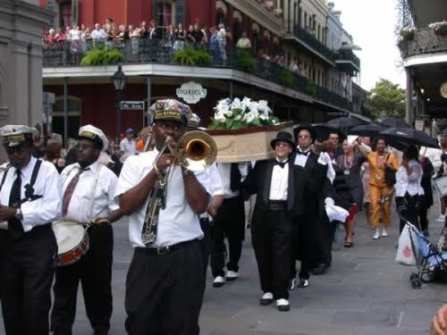 jazz funeral procession